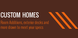 Custom Homes Room Additions Exterior Decks and More Drawn to meet your Specs