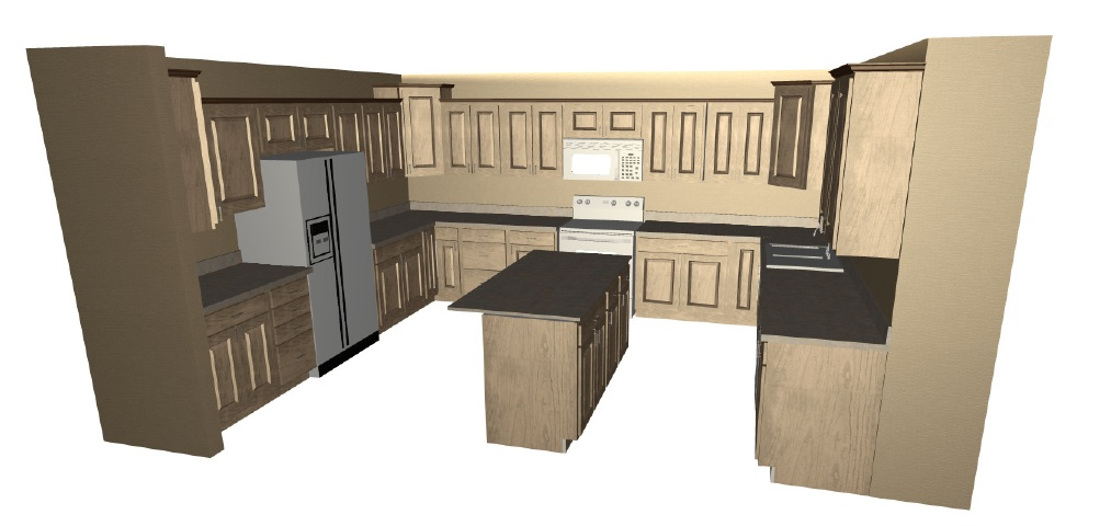 Kitchen Design Cabinet 3D Layout