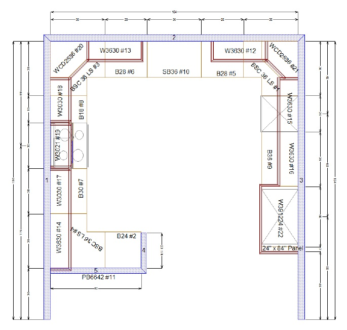 Kitchen Design Cabinet Layout