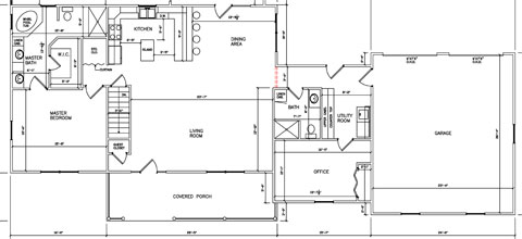 Residential Ranch Floor Plan 03