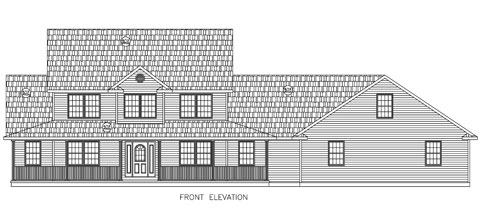 Residential Two Story Elevation 01