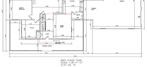 Residential Two Story First Floor 01