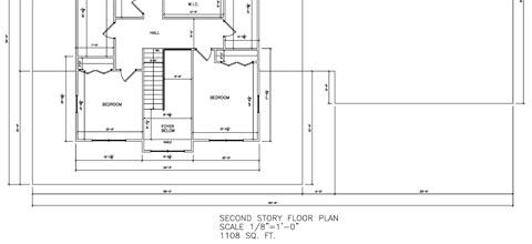 Residential Two Story Second Floor 01