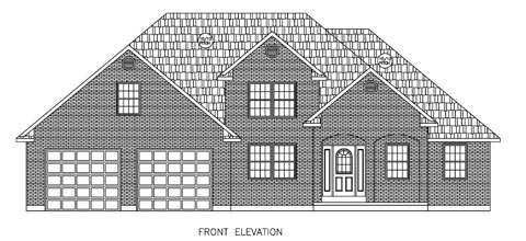 Residential Two Story Elevation 02