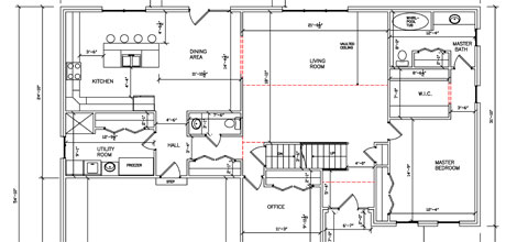 Residential Two Story First Floor 02