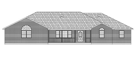 Residential Ranch Elevation 01