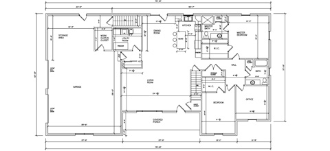 Residential Ranch Floorplan 01
