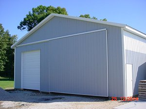 Storage Buildings Polar White Roof and Trim Light Grey Sides