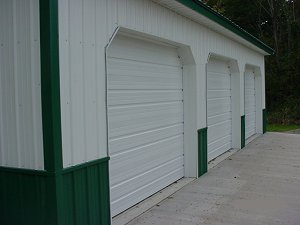 Storage Buildings Evergreen Roof Trim and Wainscot Polar White Siding