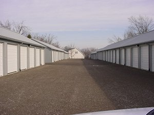 Storage Buildings Polar White Roof and Trim Light Grey Siding