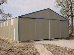 Storage Buildings Hickory Moss Roof and Sides Gallery Blue Trim
