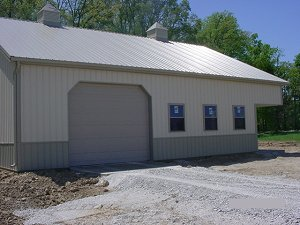Storage Buildings Hickory Moss Roof Trim and Wainscot Lightstone Sides
